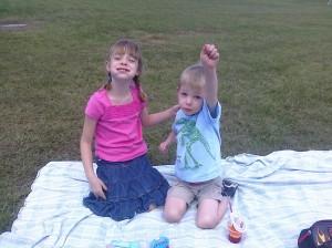 Superheros have a picnic